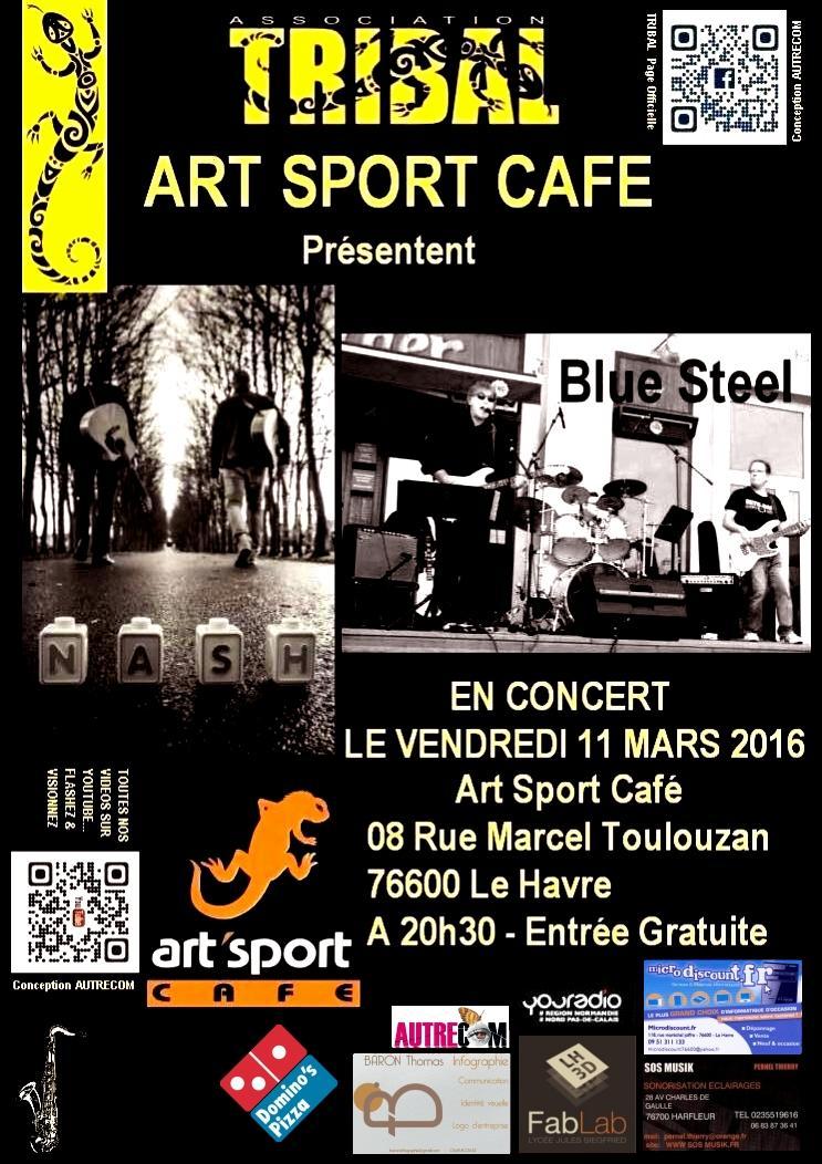 Affiche Concert - Nash & Blue Steel