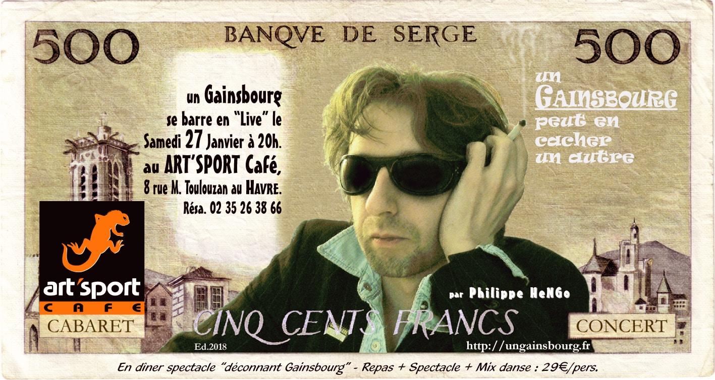 Gainsbourg Art'Sport Café Le Havre