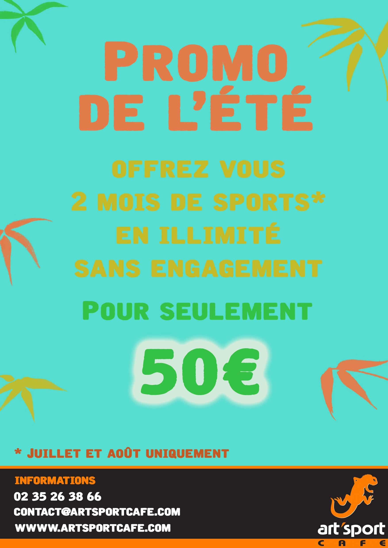 Promo été Art'Sport Café