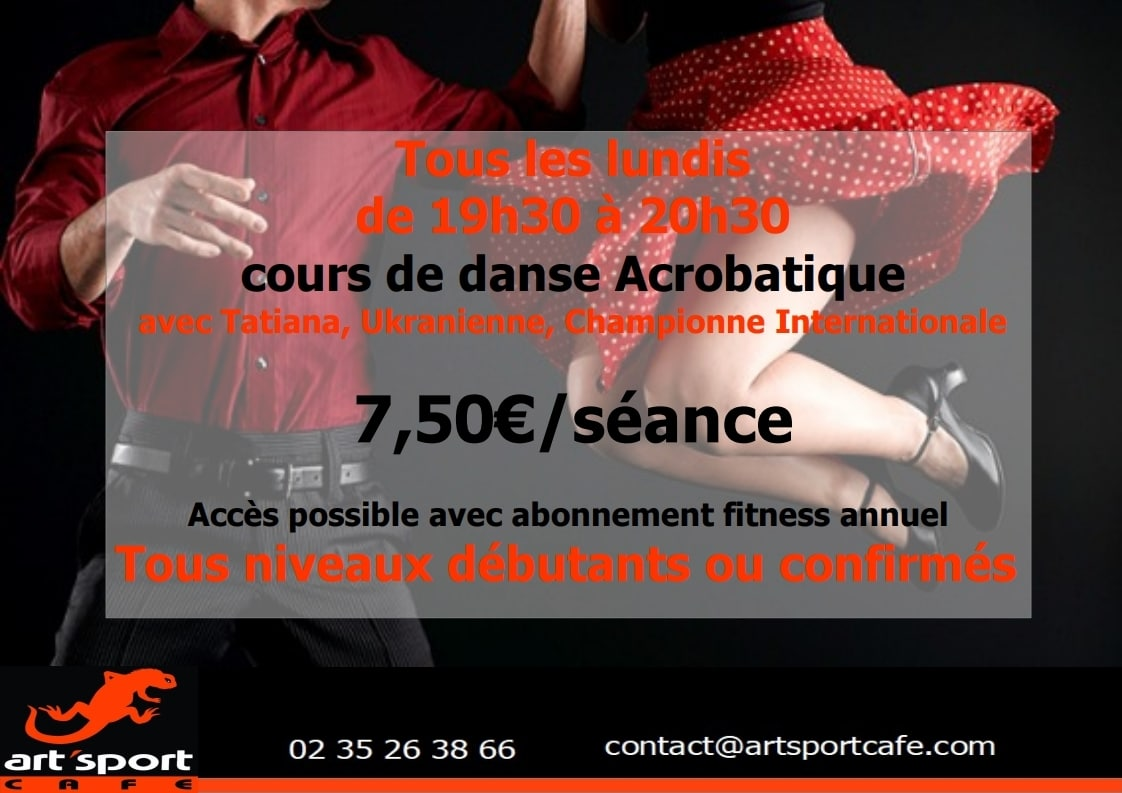 Danse acrobatique art sport café
